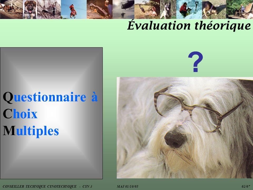 Questionnaire à Choix Multiples Évaluation théorique