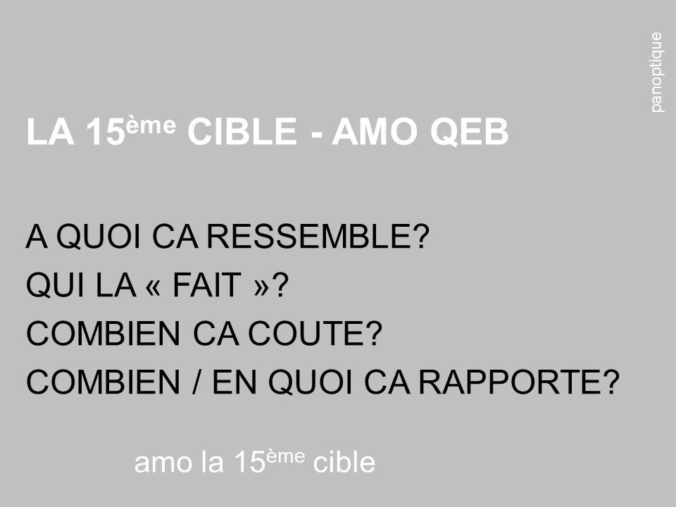 LA 15ème CIBLE - AMO QEB A QUOI CA RESSEMBLE QUI LA « FAIT »