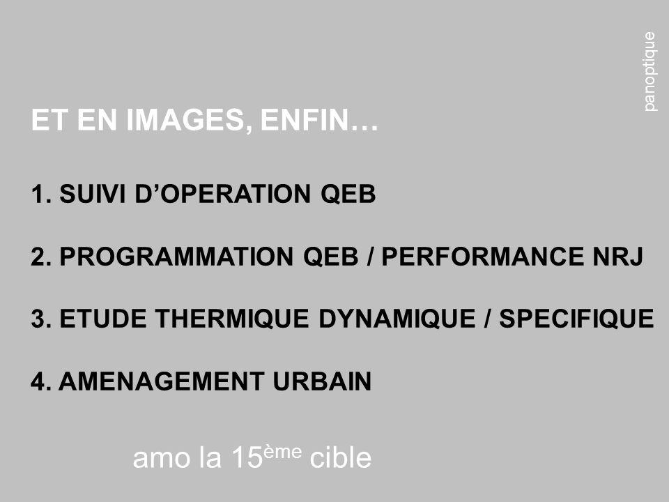 ET EN IMAGES, ENFIN… amo la 15ème cible 1. SUIVI D'OPERATION QEB