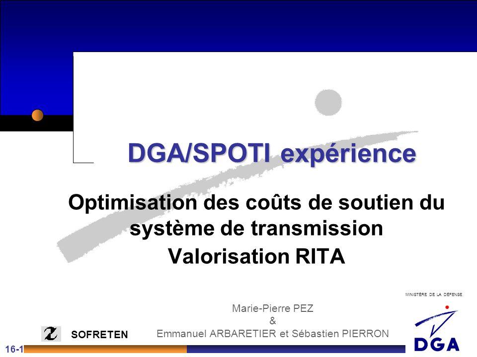 Optimisation des coûts de soutien du système de transmission