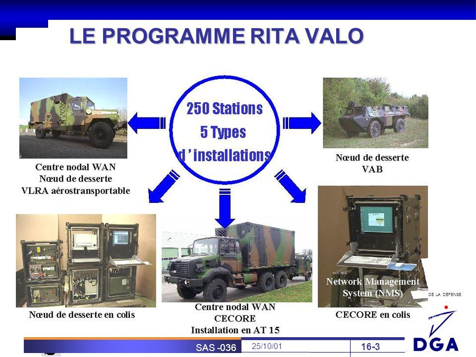 LE PROGRAMME RITA VALO SAS -036 25/10/01