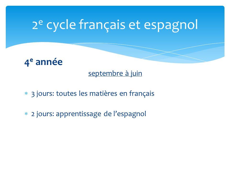 2e cycle français et espagnol
