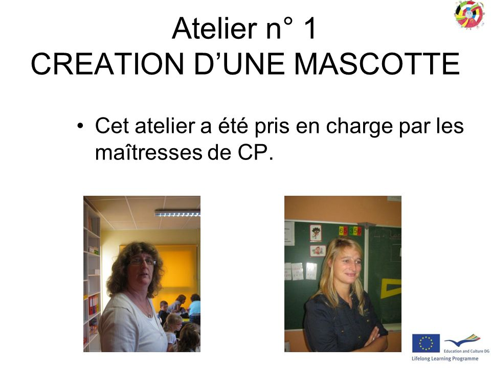 Atelier n° 1 CREATION D'UNE MASCOTTE