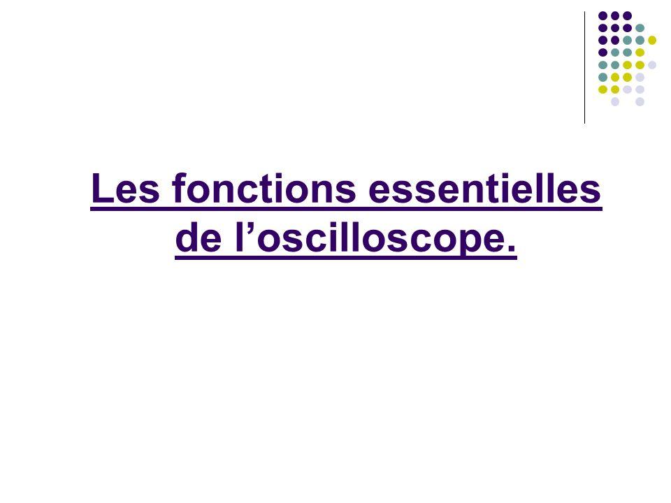 Les fonctions essentielles de l'oscilloscope.