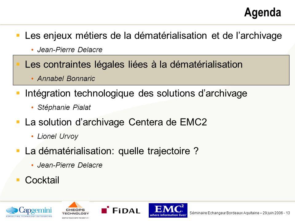 Environnement juridique de la dématérialisation et de l'archivage électronique