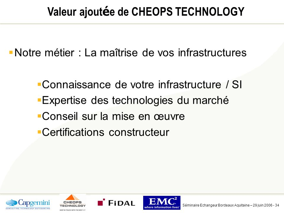 Quelques références Séminaire Echangeur Bordeaux Aquitaine – 29 juin 2006 - 35