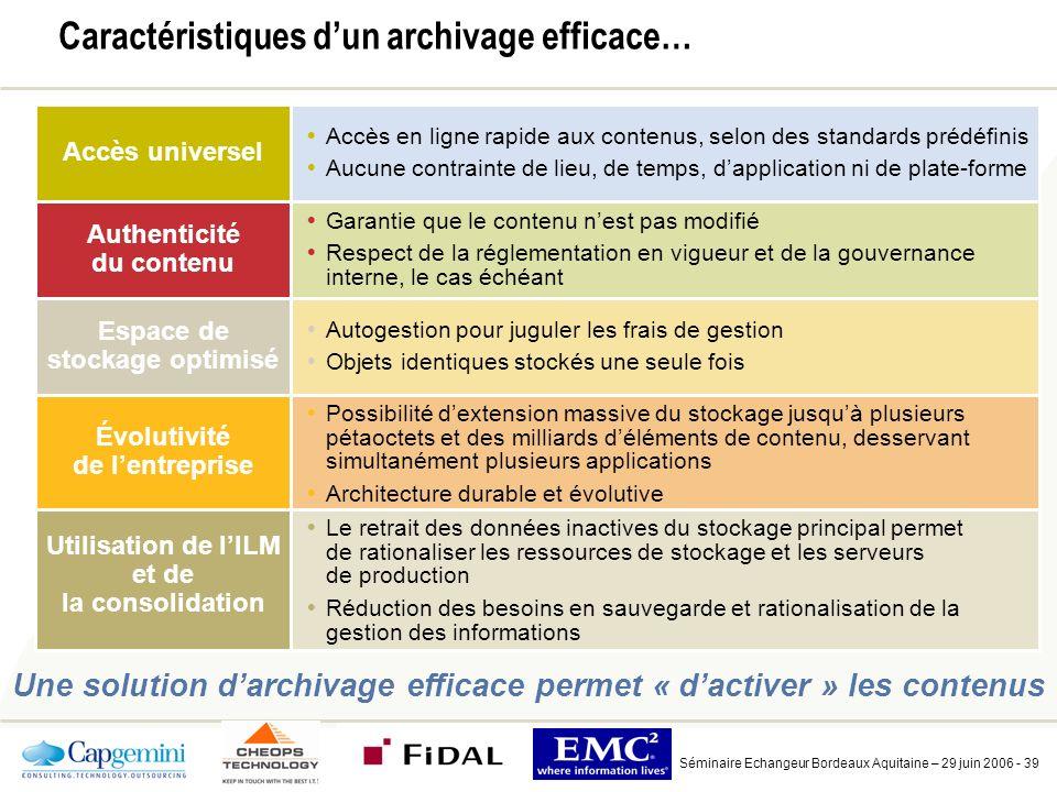 Centera pour les PME / PMI