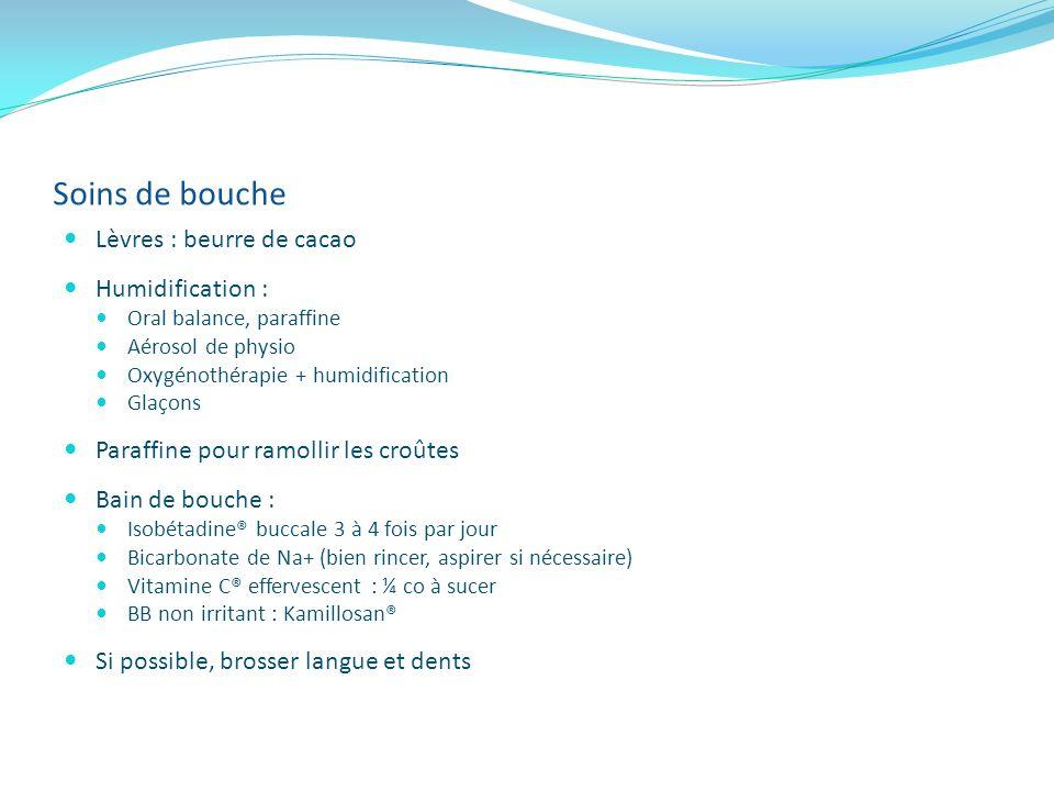 Soins de bouche Lèvres : beurre de cacao Humidification :