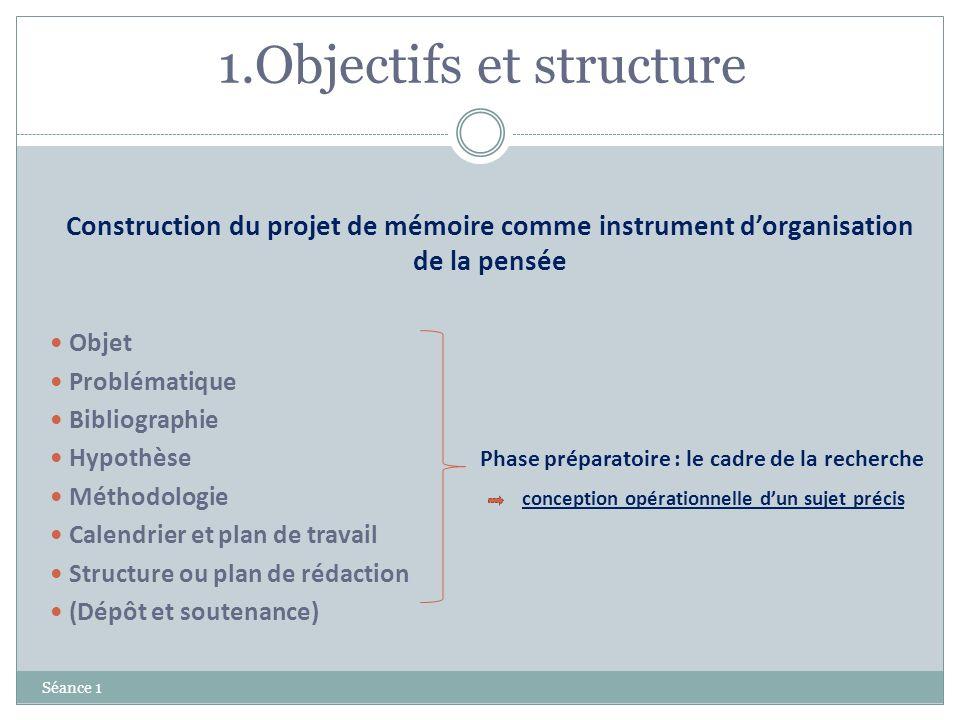 1.Objectifs et structure