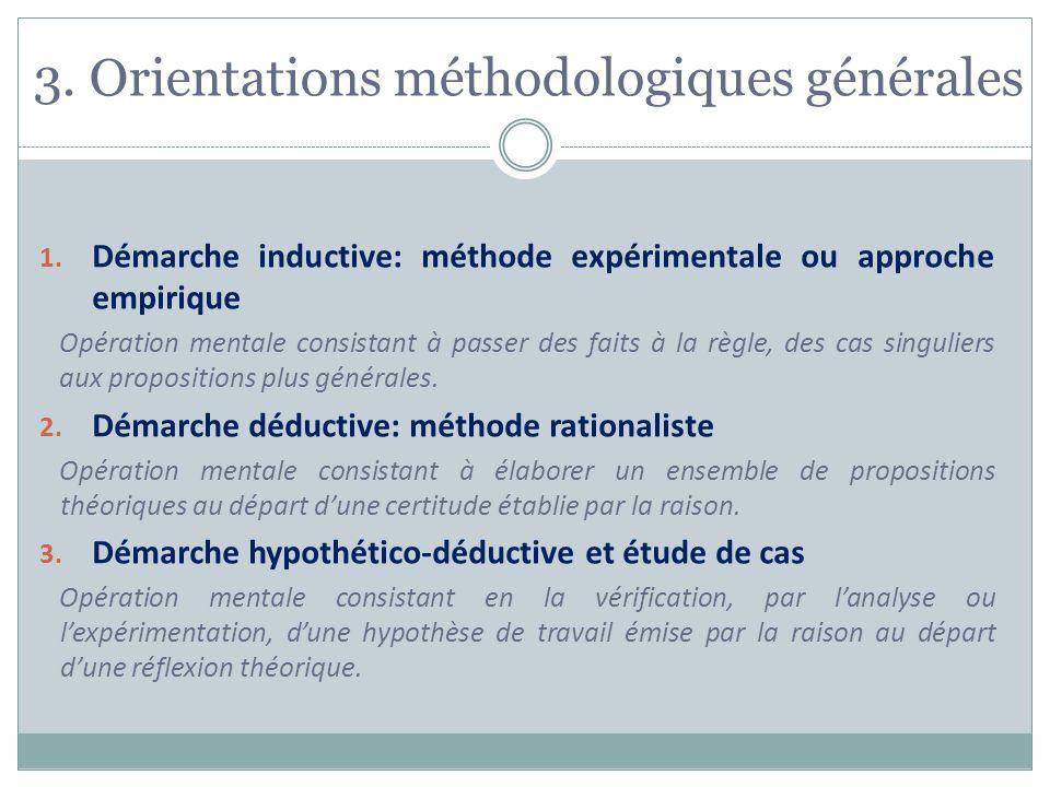 3. Orientations méthodologiques générales