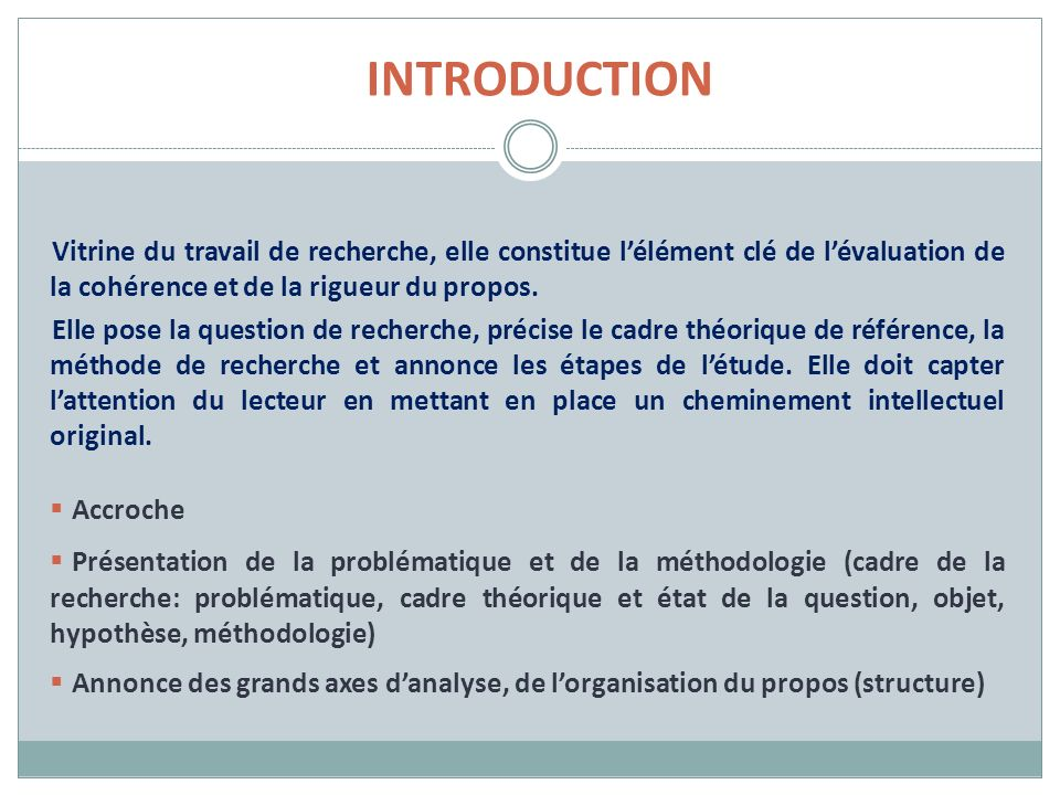 INTRODUCTION Accroche