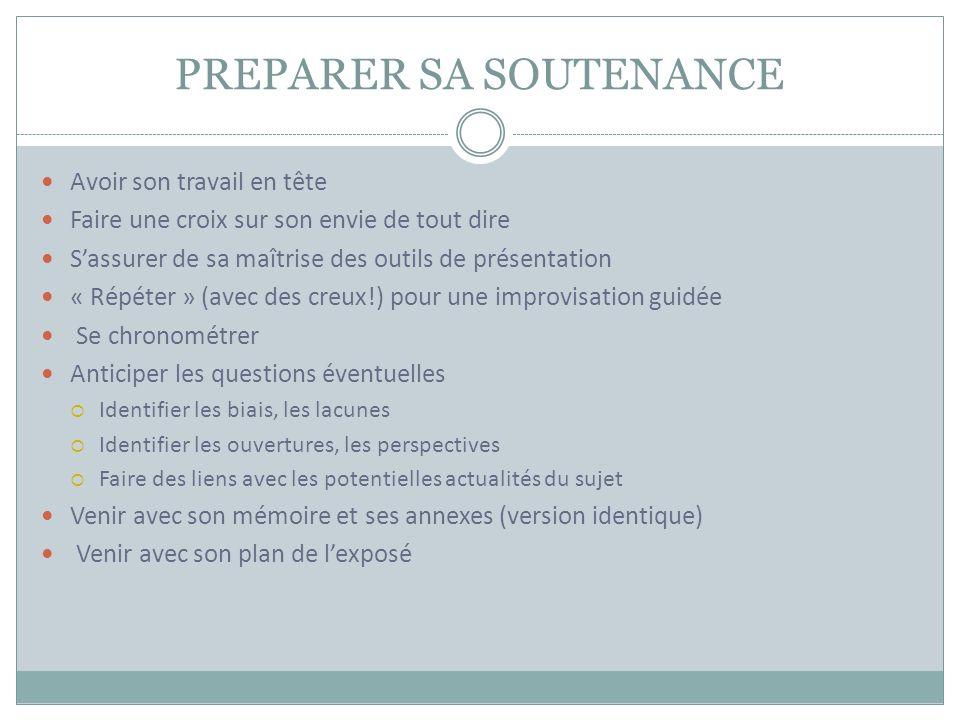 PREPARER SA SOUTENANCE