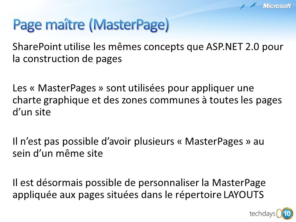 Page maître (MasterPage)