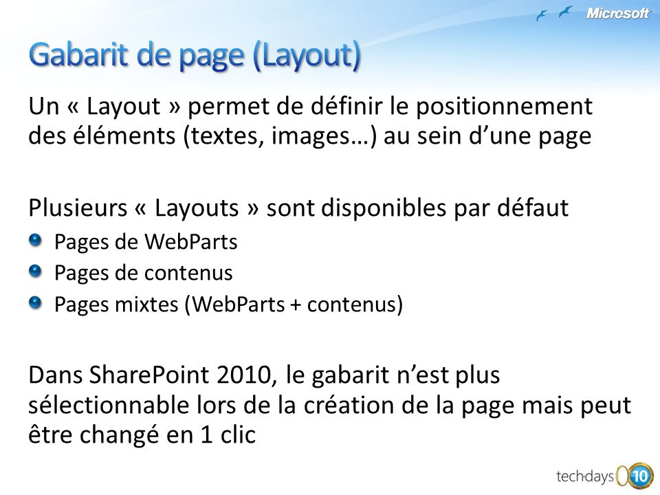 Gabarit de page (Layout)
