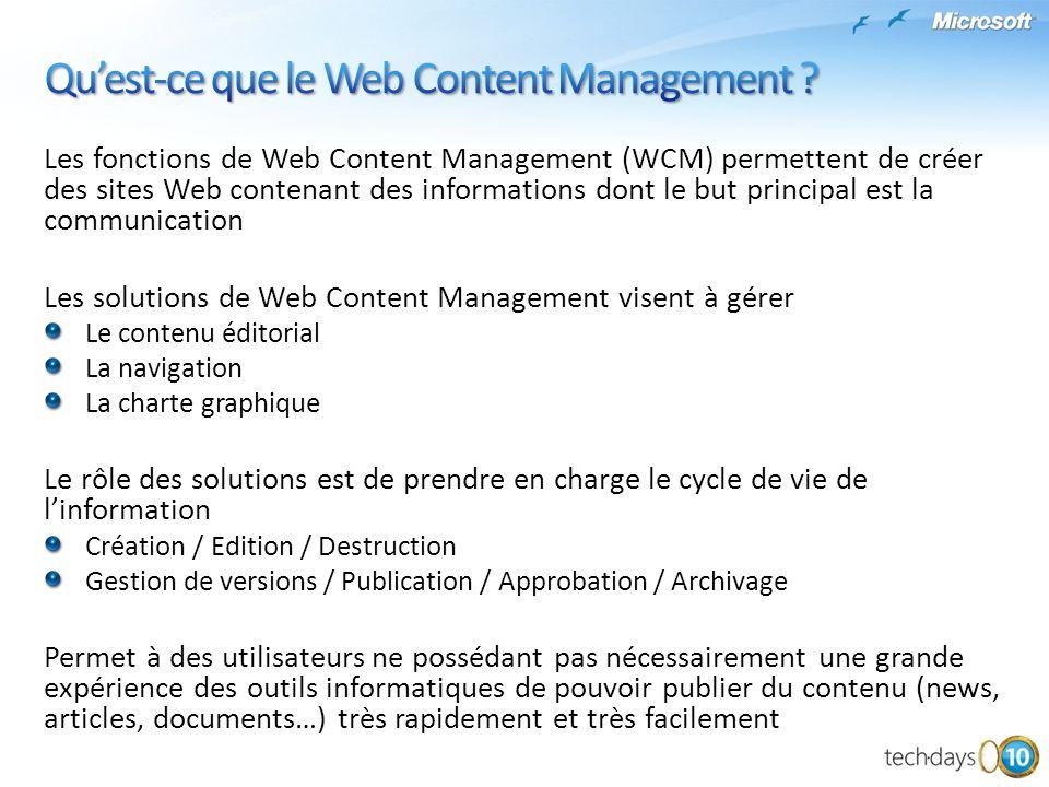 Qu'est-ce que le Web Content Management