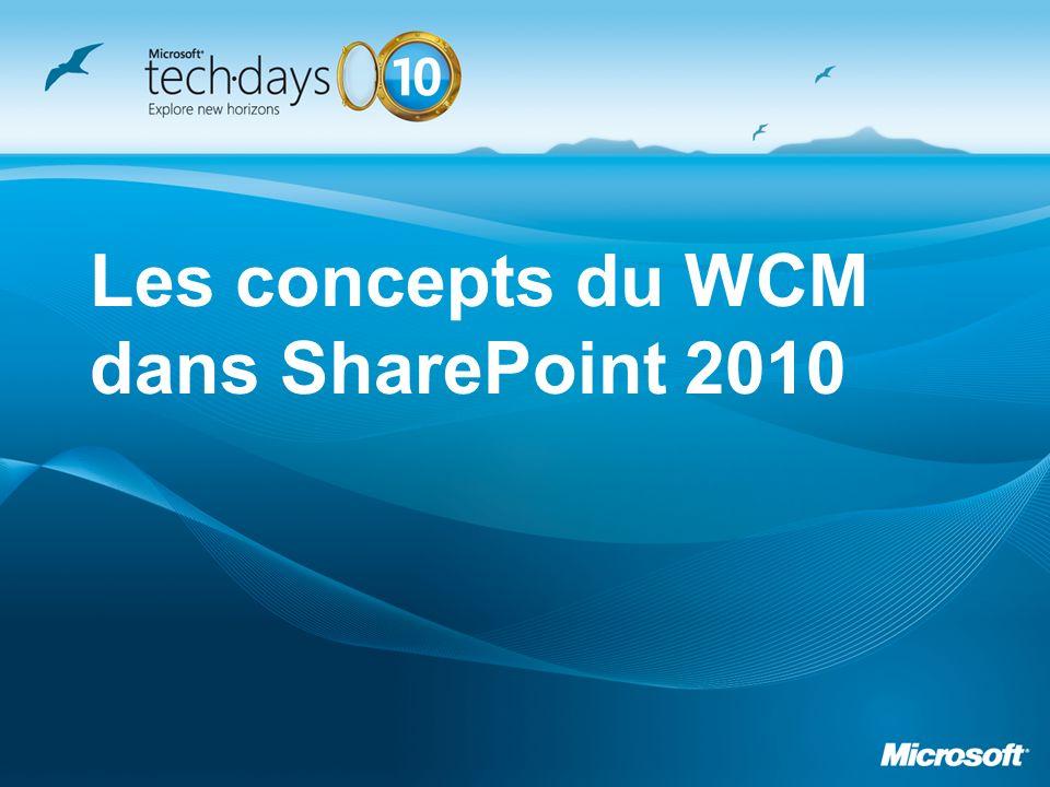 Les concepts du WCM dans SharePoint 2010