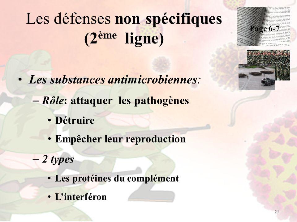 Les défenses non spécifiques (2ème ligne)