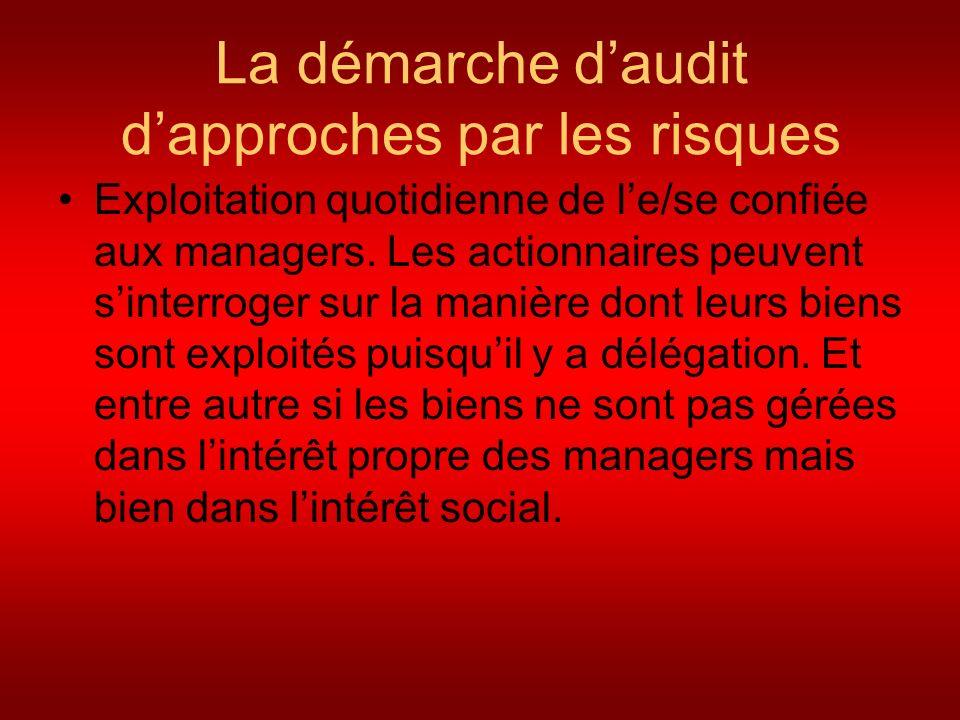 La démarche d'audit d'approches par les risques