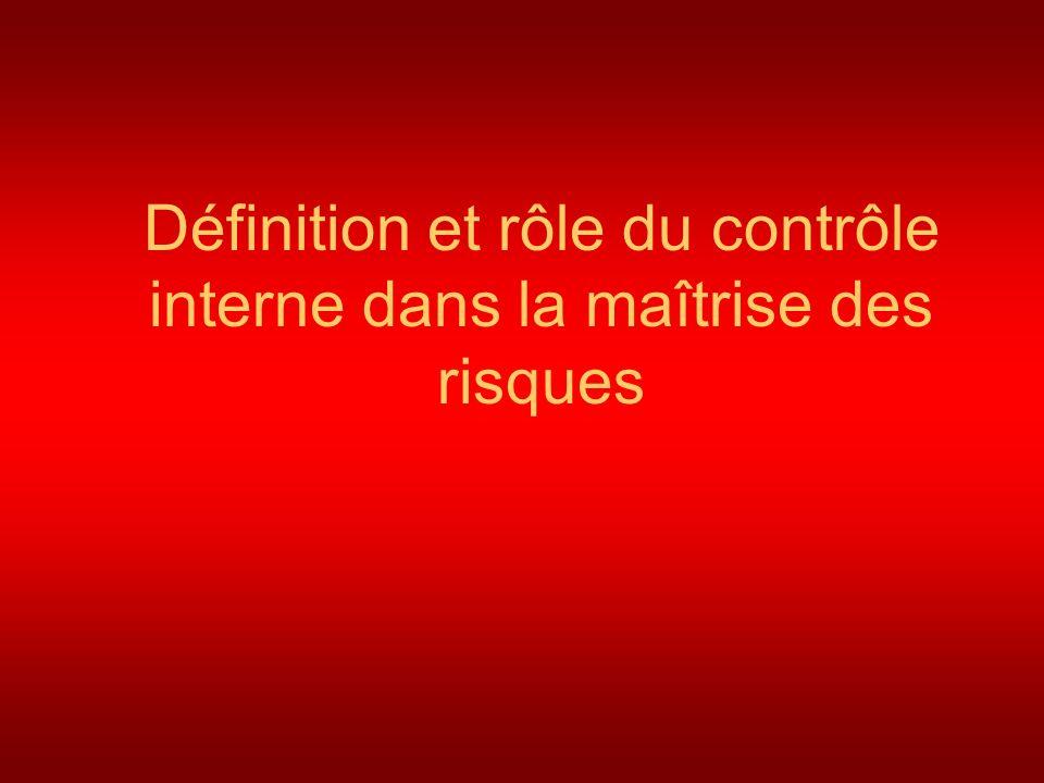 Définition et rôle du contrôle interne dans la maîtrise des risques
