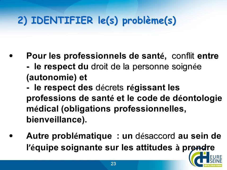 2) IDENTIFIER le(s) problème(s)