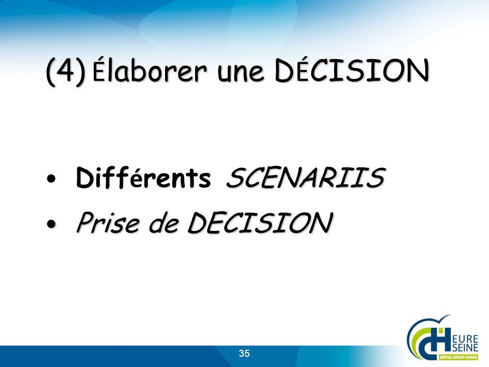 (4) Élaborer une DÉCISION