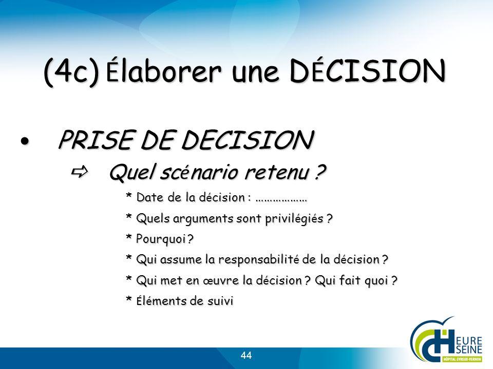 (4c) Élaborer une DÉCISION