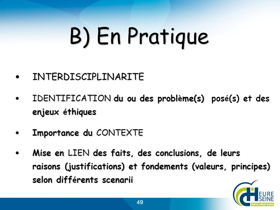 B) En Pratique INTERDISCIPLINARITE