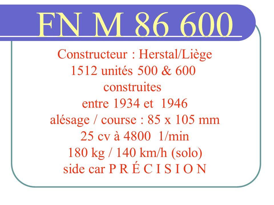 Constructeur : Herstal/Liège