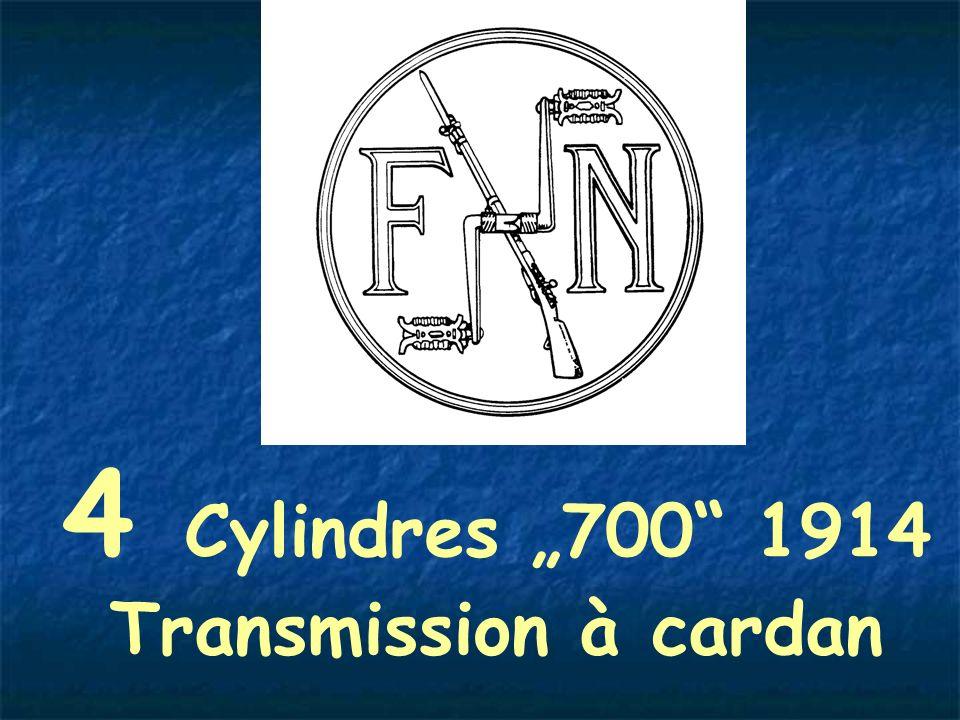 "4 Cylindres ""700 1914 Transmission à cardan"