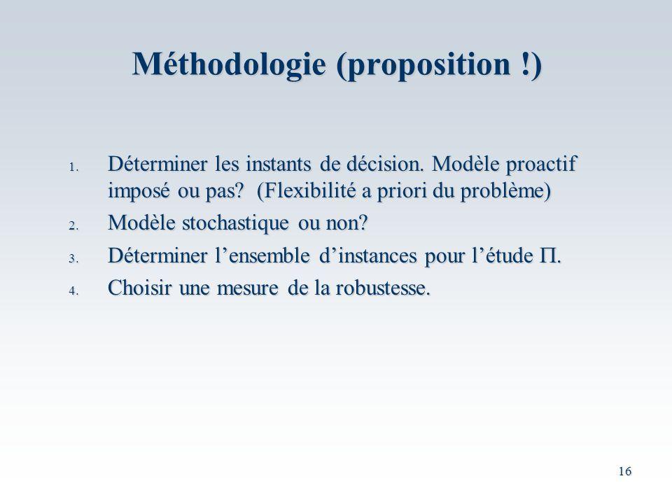 Méthodologie (proposition !)