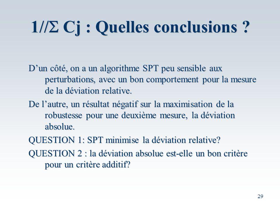 1//S Cj : Quelles conclusions