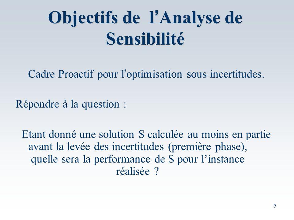 Objectifs de l'Analyse de Sensibilité