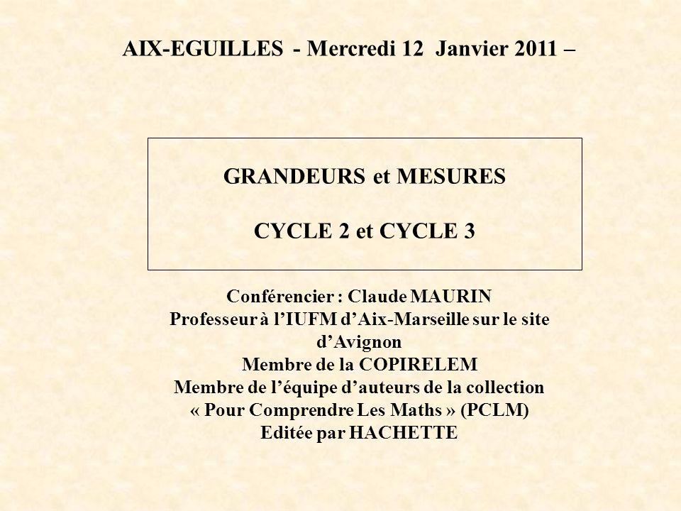 AIX-EGUILLES - Mercredi 12 Janvier 2011 –