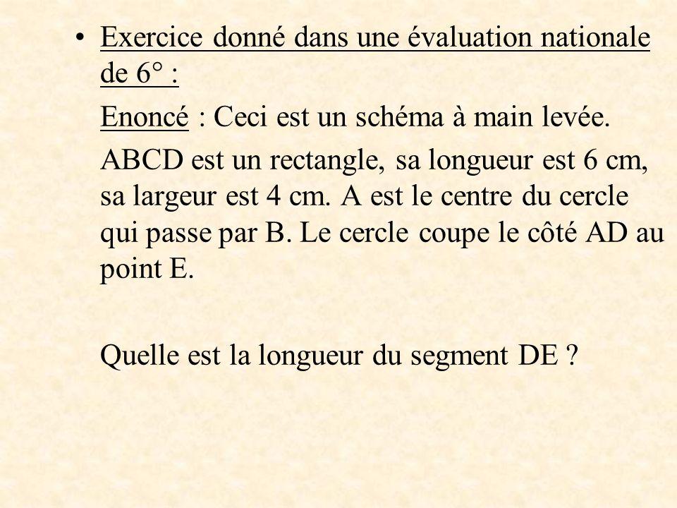 Exercice donné dans une évaluation nationale de 6° :