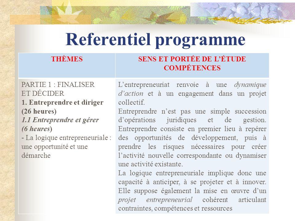 Referentiel programme