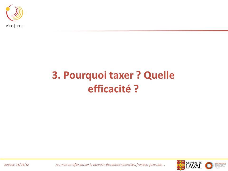 3. Pourquoi taxer Quelle efficacité