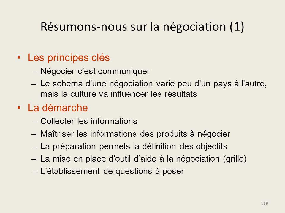 Résumons-nous sur la négociation (1)