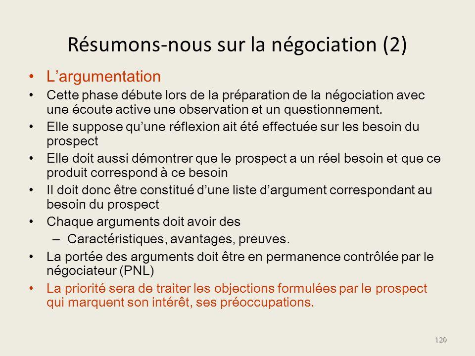 Résumons-nous sur la négociation (2)