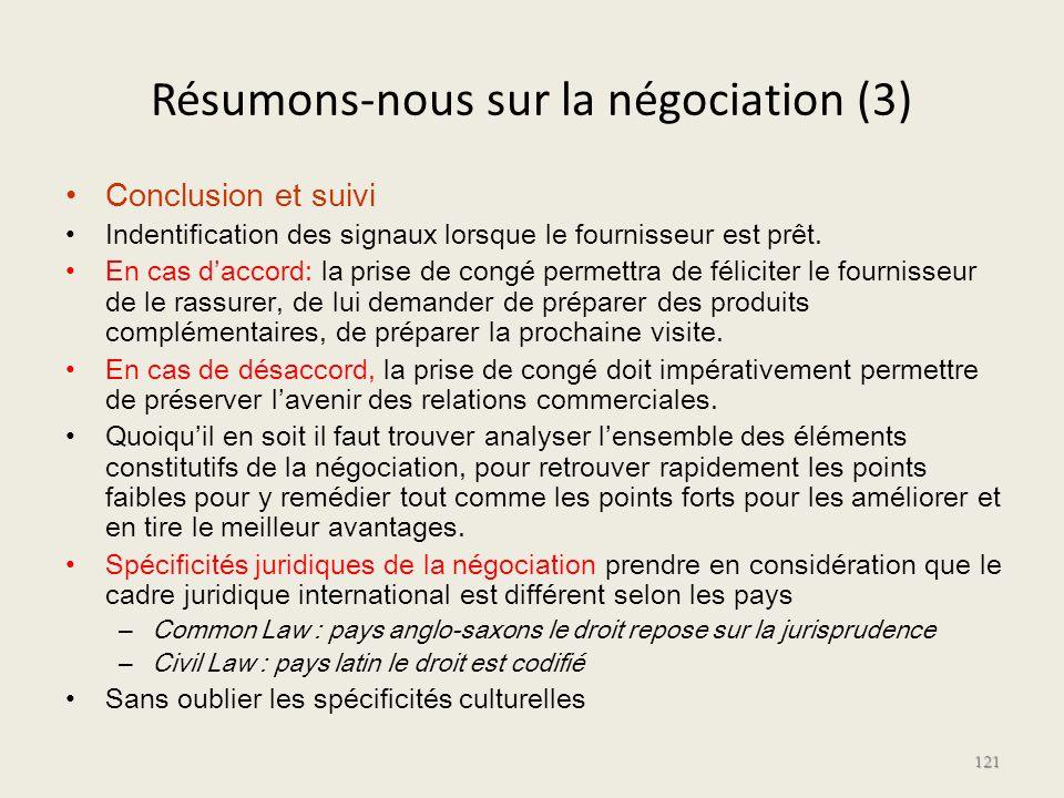 Résumons-nous sur la négociation (3)