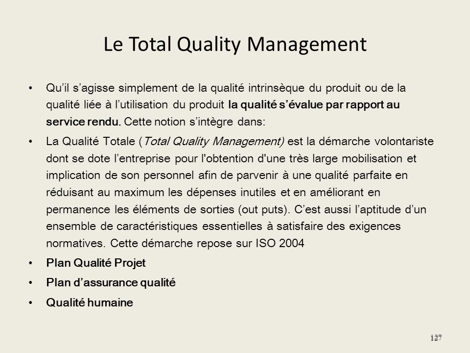 Le Total Quality Management