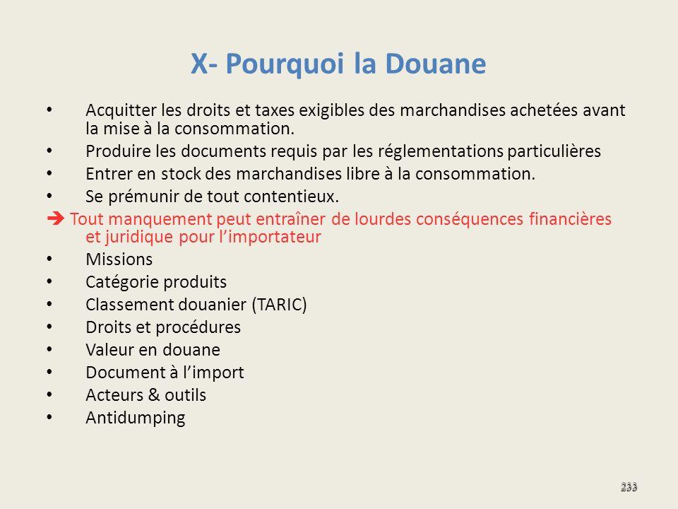 X- Pourquoi la Douane Acquitter les droits et taxes exigibles des marchandises achetées avant la mise à la consommation.