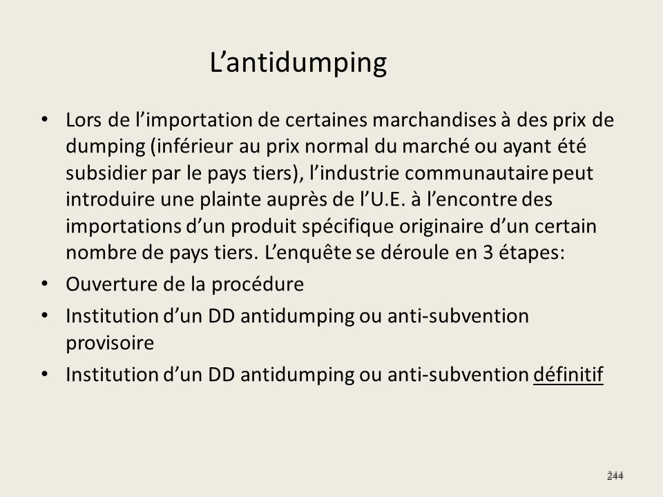 L'antidumping