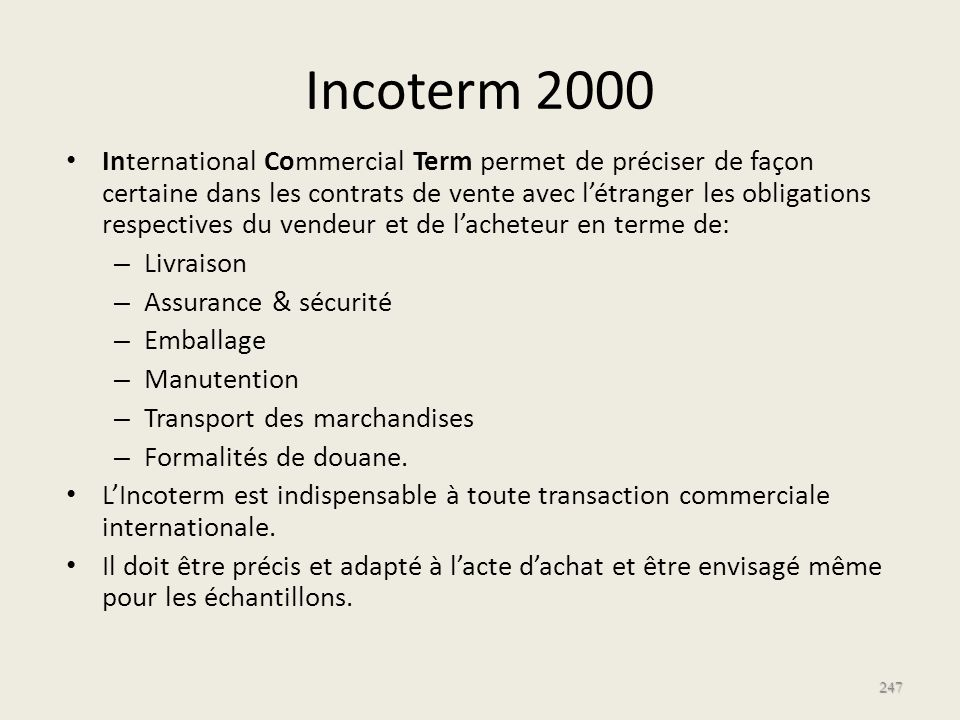 Incoterm 2000