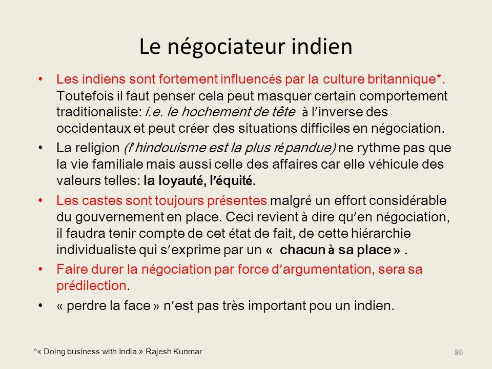 Le négociateur indien