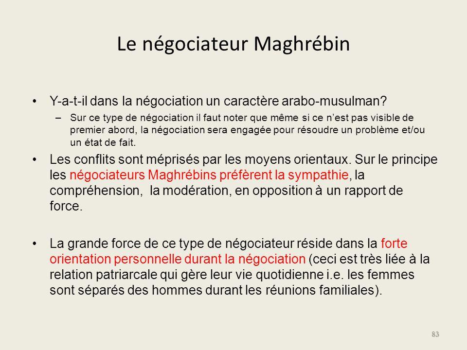 Le négociateur Maghrébin