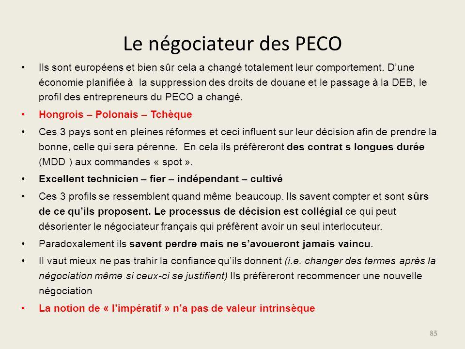 Le négociateur des PECO