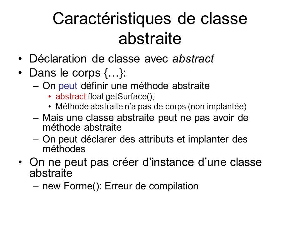 Caractéristiques de classe abstraite
