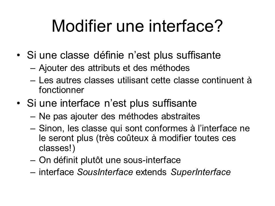 Modifier une interface