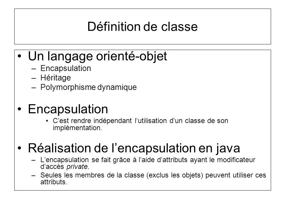 Un langage orienté-objet