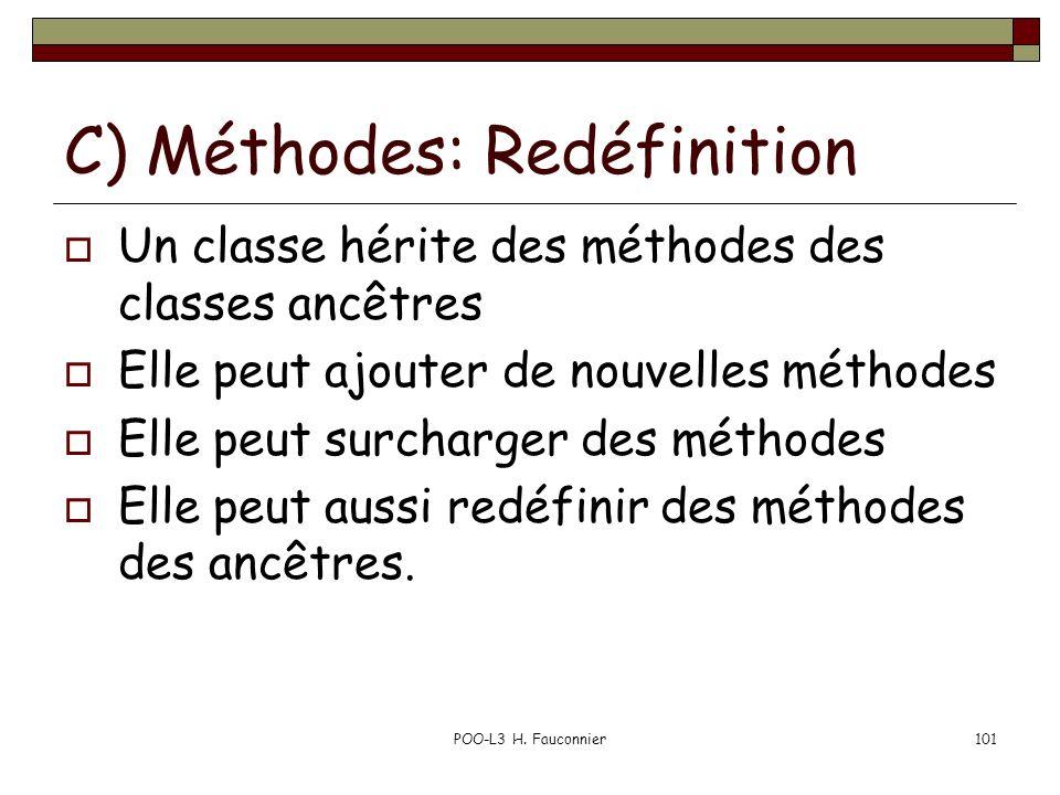 C) Méthodes: Redéfinition